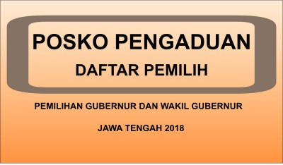 Panwaslu Banjarnegara Buka Posko Pengaduan Daftar Pemilih Pilgub